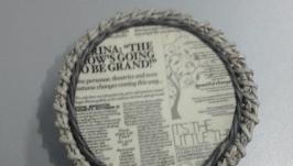 Шкатулка из бумажной лозы Газетка