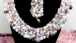 Комплект из натуральных камней′Самоцветы′