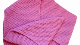 Вязаный зимний шарф ′Розовый′