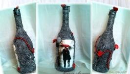 Оформление бутылка в подарок на годовщину свадьбы