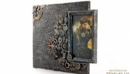 Фоторамка в стиле steampunk Подарок мужчине на день рождения юбилей