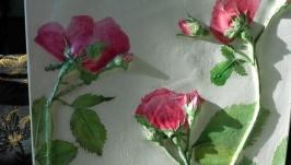 Гипсовое панно Розовые розы
