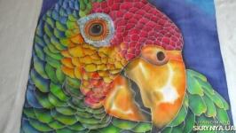 Зеленый попугай