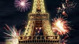 Большая картина вышита бисером ′Париж′