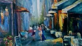 Картина маслом′ Вдоль улицы налитой солнцем′