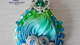 Сережки ручної роботи ′Океан′