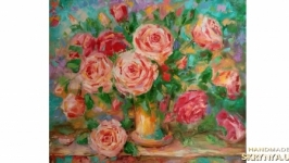 Картина розы букет роз