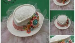 Шляпа а-ля мужская ′Весна′