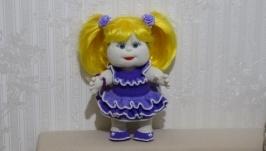 Кукла спицами (handmade)