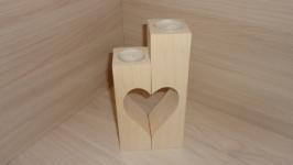 Подсвечник деревянный Сердце (пара)