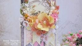 Открытка нежная цветочная