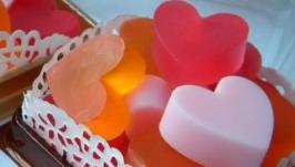 Мыло разноцветные валентинки