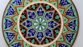 тарілка декоративна М′ятна бірюза