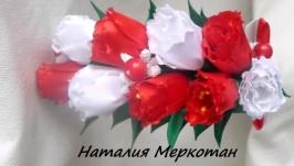 Весняний обруч з тюльпанами