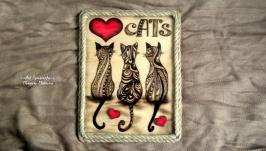 Любимые котики Картина
