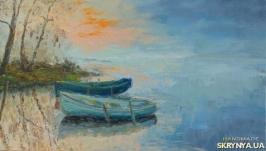 Картина маслом Лодки .