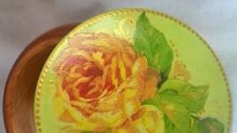 Шкатулка ′Желтая роза′