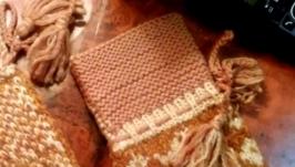 Варежки ручная вязка