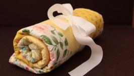 Конверт на выписку желтый, одеяло в коляск, одеяло для новорожденного