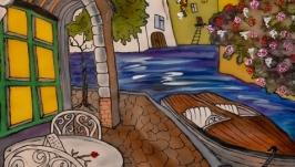 Картина батик ′Улицы Сан Ремо-3′ 45х65