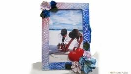 Открытка - фоторамка Подарок на день рождения свадьбу 8 марта