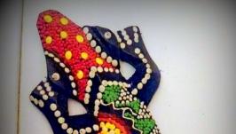 ящерка, марроканская роспись