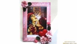 Открытка - фоторамка Подарок на 8 марта годовщину свадьбы день рождения