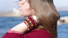 Эко браслет ′Гранатовое дерево′
