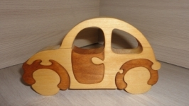 Машина. Объемные пазлы из дерева