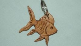 Шкіряний брелок ′Золота рибка′