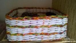 Плетеный коробок