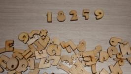 Цифры, буквы и знаки для скрапбукинга и аппликаций 127 шт