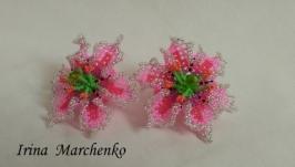 Бісерно-квіткові резиночки для волосся.
