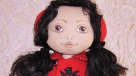 Текстильная игровая авторская кукла Марийка
