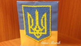 Обложка на паспорт с гербом Украины
