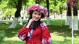 Діадема вінок ободок пишний з піонами вінок український