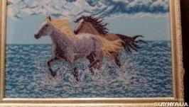 Картина вишита бісером ′Вздовж моря′