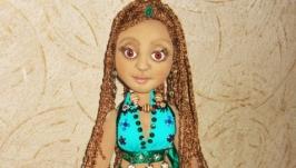 Танцовщица Айша, текстильная шарнирная авторская кукла ручной работы