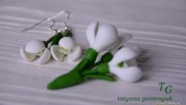 Комплект весняних прикрас Підсніжники