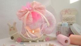 Розовая улитка в стиле Тильда