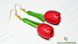 Тюльпани Сережки, оригінальні весняні прикраси!