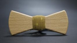 тут изображено Деревянная галстук-бабочка ′Classical3′ из массива европейского бука.
