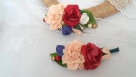 Бутоньерки для жениха и невесты или свидетелей