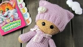 Вязаная куколка, кукла, пупс , игрушка