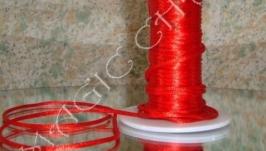 Шнур шелковый корсетный красный
