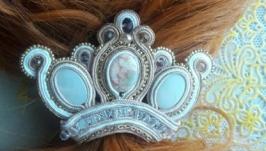 Сутажная заколка для волос  ′Viva Liza′