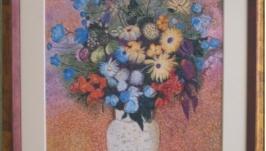 Картина ′Цветы в белой вазе′