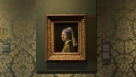 Девушка с жемчужной сережкой. Вышивка и живопись