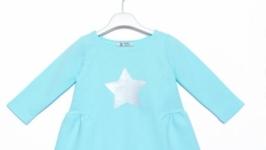 Трикотажна сукня для дівчинки з зіркою