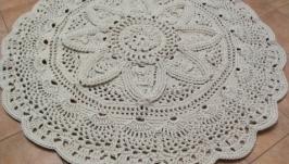 Ковер ручной работы из полиэфирного шнура *Цветок лотоса*